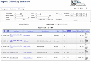 screen shot of report manager.